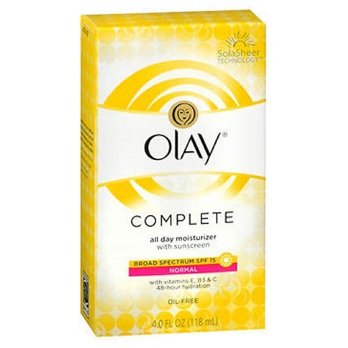 Olay Complete Moisturizer Normal Spf#15 4 Ounce (118ml) (2 Pack)
