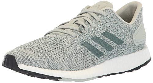 adidas Women's Pureboost DPR Running Shoe, ash Silver/raw aero Green, 7.5 M US