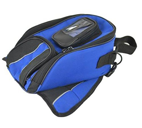 Vance Leather VS402 Magnetic Tank Bag, Blue (Daytona Tank Bags)