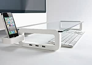U-Board Smart Multifunction Board with built-in 3 Port USB Hub Iphone Holder and Cup Holder