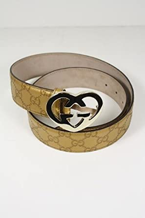 12d391d8477 Amazon.com  Gucci Belt Gold Leather 245856 (Size 85 (34))  Clothing