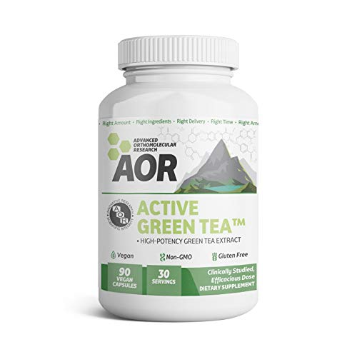- AOR - Active Green Tea, Natural High-Potency Green Tea Extract, with EGCG Catechins (150 mg), Vegan Take Daily, 90 Capsules (30 Servings)