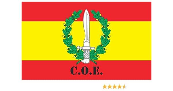 Durabol Bandera de España C.O.E-Compañía Operaciones Especiales 150X90 CM Flag Satin: Amazon.es: Jardín
