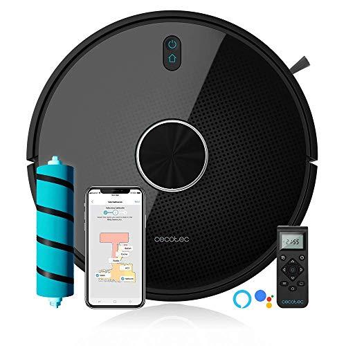 Cecotec-Robot-Aspirapolvere-Conga-Serie-4090-2700-Pa-gestione-di-stanze10-livelli-di-pulizia-app-con-5-mappi-Aspira-Scopa-Strofina-e-Passa-la-Moppa-Alexa-e-Google-Home-Adatto-per-Wi-Fi-5GHz