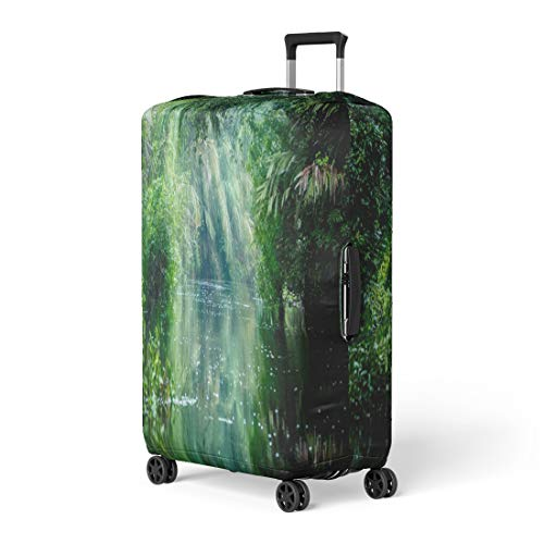 (Pinbeam Luggage Cover Tortuguero National Park Rainforest Costa Rica Caribbean Coast Travel Suitcase Cover Protector Baggage Case Fits 26-28 inches)