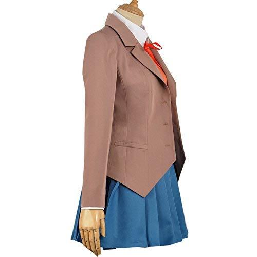 Anime Sayori Yuri Natsuki Monika Cosplay Costume School Uniform Fancy Dress Halloween (L) Brown - http://coolthings.us