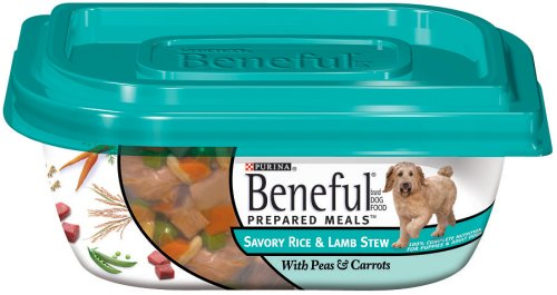 Beneful Dog Food Prepared Meals Savory Rice and Lamb Stew, 10-Ounce Plastic Containers (Pack of 8), My Pet Supplies
