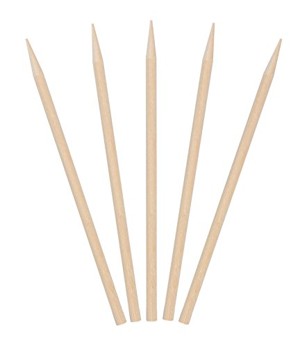 KingSeal Natural Birch Wood Meat Skewers, Sticks - 4.5 Inches, 3.5mm diam, 1000 Count by KingSeal
