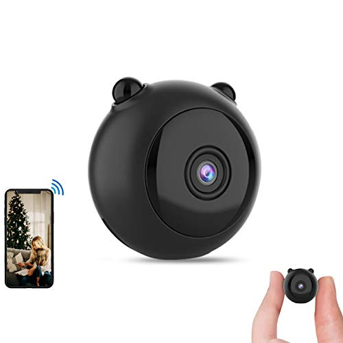 Gurmoir Security Cam,Mini Hidden Cam.Wireless 1080P HD WiFi Cam with Night Vision/Motion Detection/Remote Viewing/Loop Recording,Security/Nanny Cam for Indoor/Home/Office(with iOS/Android APP) G16