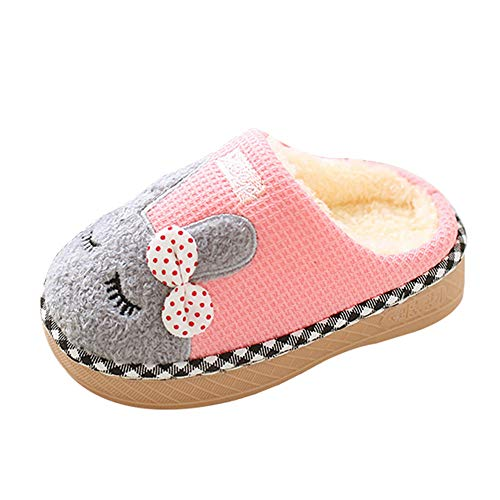Indoor cotton slippers,G-real Toddler Baby Boys Girls New Cute cartoon rabbit winter home shoes ()