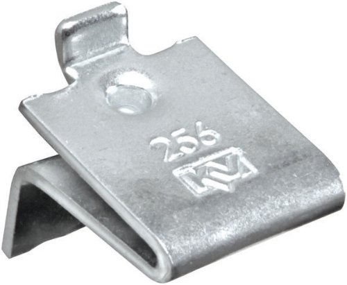 Knape & Vogt, 256, heavy duty, mortise mounted pilaster clip, steel, zinc plated, for solid shelf