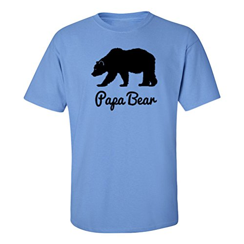 Mashed Clothing Papa Bear Adult T-Shirt (Carolina Blue, Large) (Papa Bear)