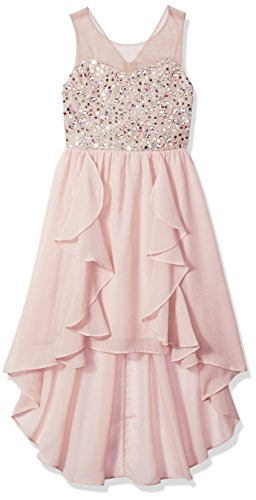 Tween Diva Girls' Big High Low Special Occasion Dress, 8