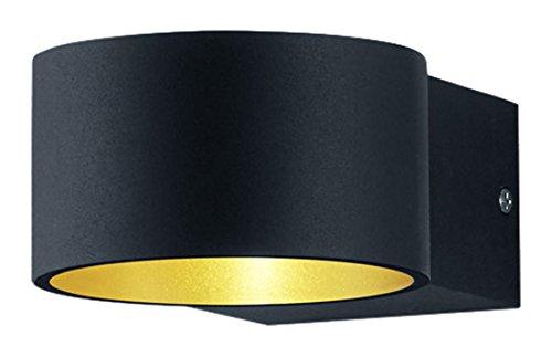 Trio leuchten wandleuchte metall schwarz 15 x 10.5 x 6 cm: amazon