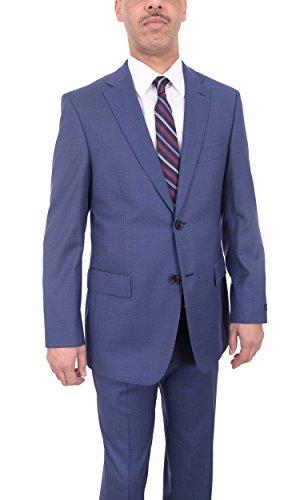 Super 120 Wool Suit (The Suit Depot Hugo Boss Paolini1/movio1 Blue Pindot Two Button Super 120's Wool Suit)