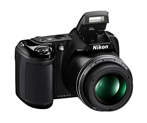 41qaYndFBUL - Nikon Coolpix L340 20.2 MP Digital Camera with 8GB memory card bundle (28x Optical Zoom, 3.0-Inch LCD, 720P Video, Black, US model)