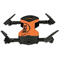 Hi-Tech 2.4GHz Foldable Control Remote Quadcopter Wifi UAV Drone with 0.3MP HD Camera, Altitude Hold, 3D Scrolling, Headless Mode, One Key Return