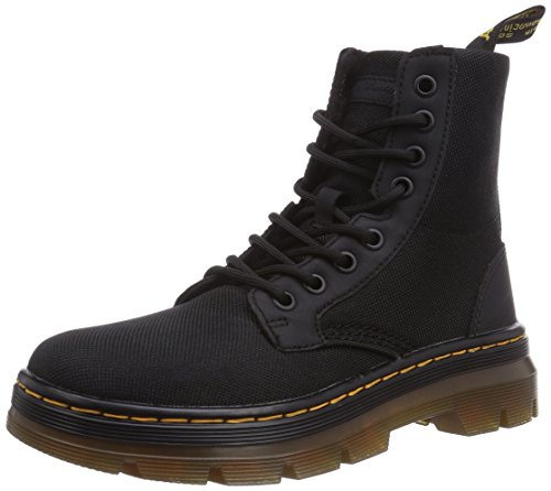 Dr. Martens Men's Combs Nylon Combat Boot, black, 7 UK/8 M US by Dr. Martens
