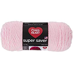 Red Heart Super Saver Yarn, Baby Pink
