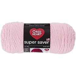 Red HeartSuper Saver Yarn, Baby Pink