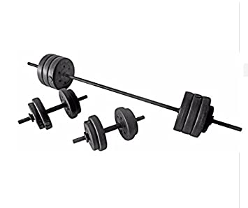 Vinilo juego de mancuernas pesas Fitness Pro - 50 kg: Amazon.es ...