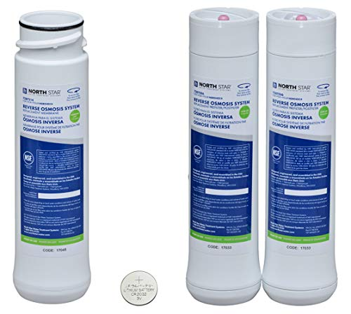 - North Star Reverse Osmosis System - Pre & Post Filters, Membrane and CR2032 Battery Bundle plus Station Tag
