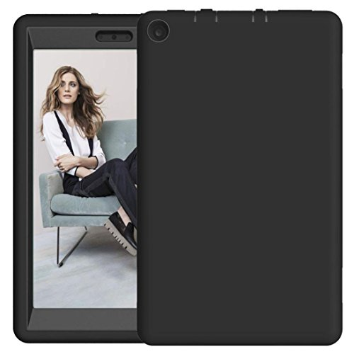 For 8Inch Amazon Kindle Fire HD 8 Tablet Case 2017, Iusun Shockproof Hybrid Case Protective Shell Cover (D) (Tv Remote Ipazzport Fire Amazon)