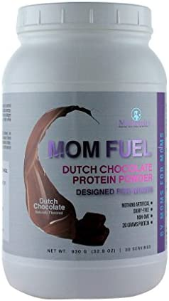 MOM FUEL- All-Natural, Plant and Collagen Protein Powder- Dutch Chocolate