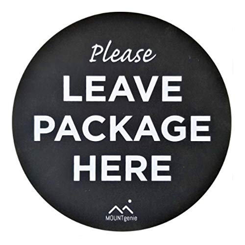 The Package Mat by Mount Genie: Stops Package Theft. The Simplest Way to Let Delivery People Know Where to Leave Your -