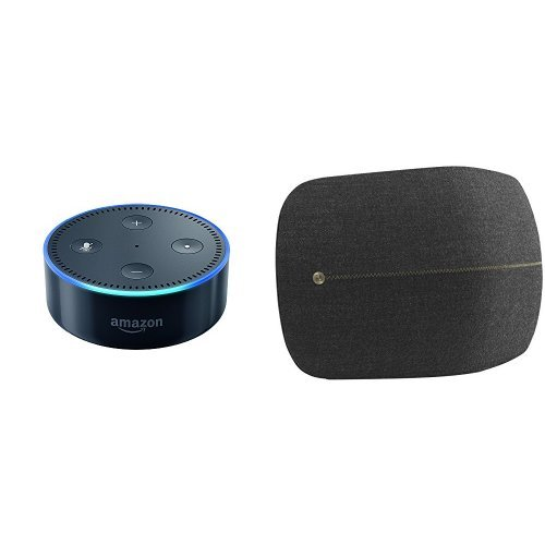 Echo Dot (2nd Generation) - Black + B&O Play by Bang & Olufsen Beoplay A6 Music System Multiroom Wireless Home Speaker (Oxidized Brass)