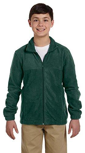 Harriton Youth 8 oz. Full-Zip Fleece, Medium, HUNTER