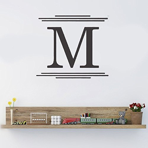 Wall Sticker Lettering Wall Art sticker Removable Letters Quote Art Personalized Majestic Monogram for living room bedroom