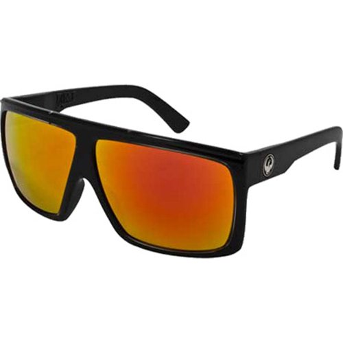 Dragon Alliance Fame Men's Large Fit Fashion Sunglasses - Jet/Red Ionized / One Size Fits ()