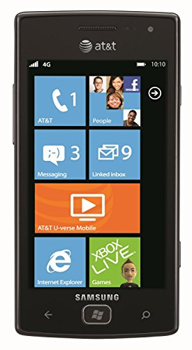 Samsung Focus Flash I677 8GB Unlocked GSM Phone with Windows 7.5 OS, 5MP Camera, GPS, Wi-Fi, Bluetooth and FM Radio  - Black