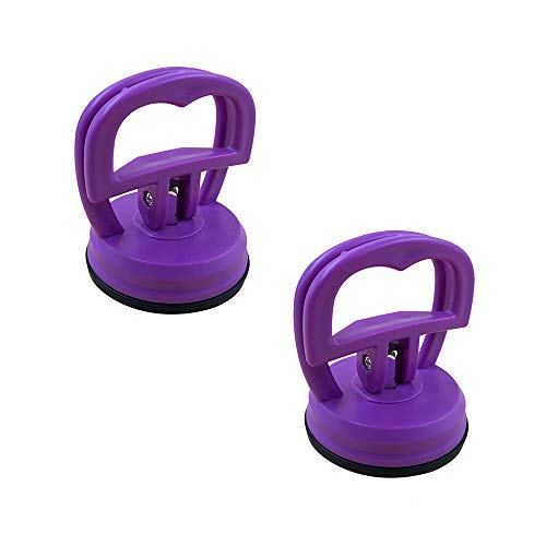 JumpyFire Heavy Duty Suction Cups, 2 Pcs DIY Screen Opening Repair Tools, Suction Cup Puller for iMac, iPhone, iPad, Tablet Computer and Other LCD Glass Screen, Purple
