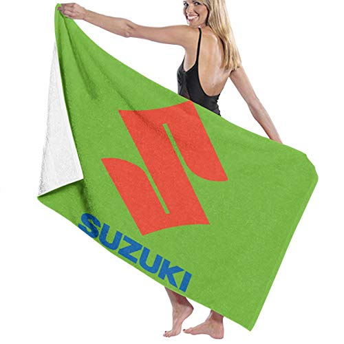 Ruige Hongke Towels Suzuki Logo Women Bath Towel Shower White One Size
