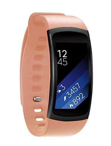 EloBeth Compatible Gear Fit 2 Pro/Gear Fit 2 Band, Smart Watch Elastomer Strap Plastic Wristband for Gear Fit 2 Pro/Gear Fit 2 SM-R360 Fitness Activity Tracker (5.9-7.5) Light Pink