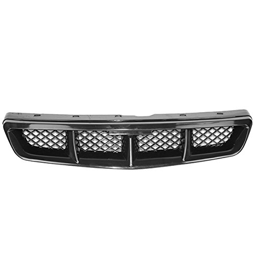Honda 2000 Grille Civic (Fits 1999-2000 Honda Civic Mugen Style Black Mesh ABS Front Hood Grille Grill)