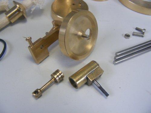 Sunnytech Mini Hot Live Steam Engine Brass Model Education