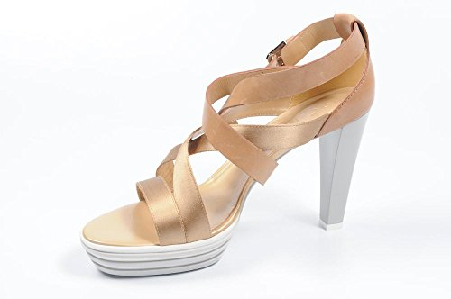 sandali Hogan HXW1570A370614040DCALF SATIN beige - donna