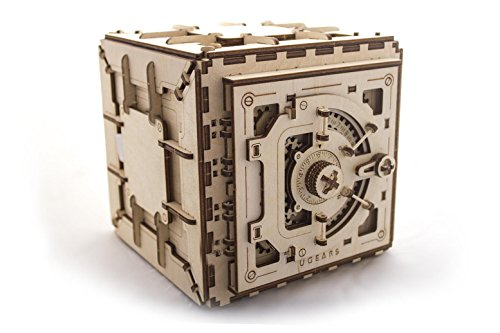 UGears Safe mechanical wooden model KIT 3D puzzle Assembly