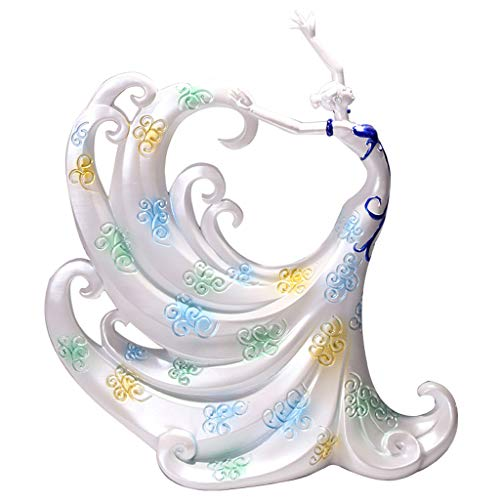 (LPYMX Table Accessories Statue Peacock Dancing Girl Decoration Creative Crafts Wedding Gift (Color : A))
