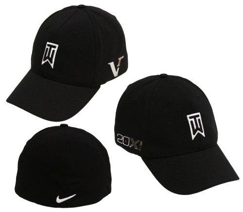 Nike TW Tiger Woods Tour FlexFit Golf Cap Hat 2010 Victory Red One L XL  Black 59abdccfd1e