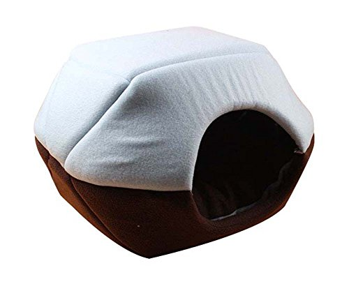 Freerun Cozy Pet Dog Cat Cave Mongolian Yurt Shaped House Bed with Removable Cushion Inside - Blue, M