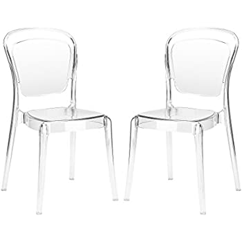 Nice Poly And Bark Lucent Dining Side Chair (Set Of 2), Clear