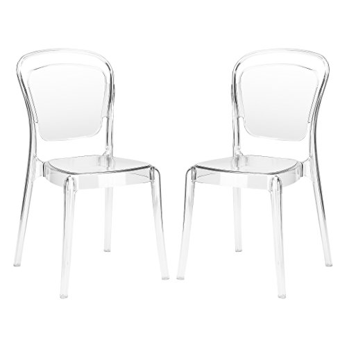 Dining Sets Acrylic (Poly and Bark Lucent Dining Side Chair (Set of 2), Clear)
