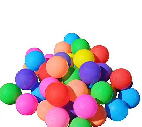 Kids' Ball Pit Balls  & Zippered Tote by SimpleLyfe | Preschool & Kindergarten Playground Toys for Toddlers & Babies | Fun Outdoor / Indoor Play |