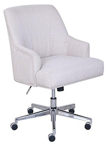 Serta Style Leighton Home Office Chair, Twill Fabric, Beige