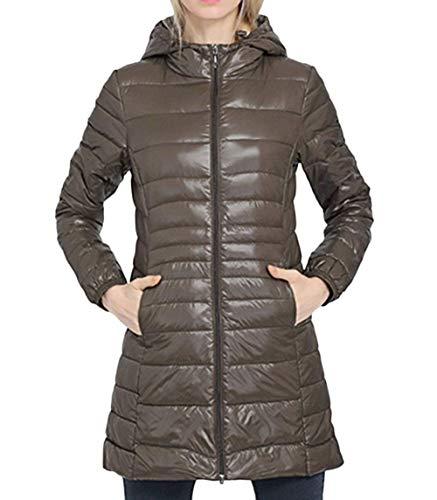 Slim Donna Lunga Verde Caldo Cappotti Piumini Addensare Estilo Fit Invernali Piumino Facile Especial Outdoor Elegante Nero YxprYXqH