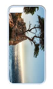 MOKSHOP Adorable Cliff Tree Coast Hard Case Protective Shell Cell Phone Cover For Apple Iphone 6 (4.7 Inch) - PC White